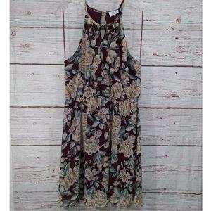 Sienna Sky | Floral Midi Dress Sz L